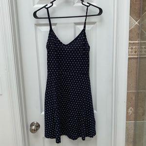 NWT navy polka dot skater dress